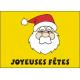Drapeau Père Noël Visage 50*75 cm