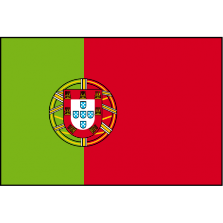 Drapeau de Prestige Portugal avec écusson