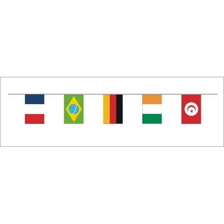 Guirlande 32 pays du monde 20*30 cm en plastique