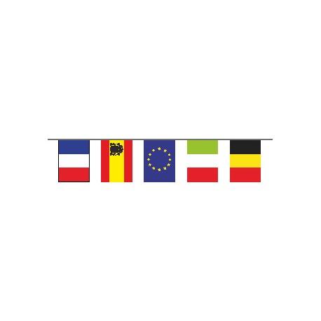 Guirlande plastifié 24 pays de l'euro 2016 10 metres