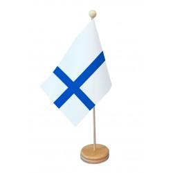 Drapeau de table Finlande socle bois