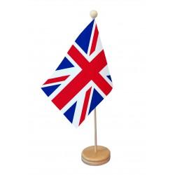 Drapeau de table Grande Bretagne socle bois