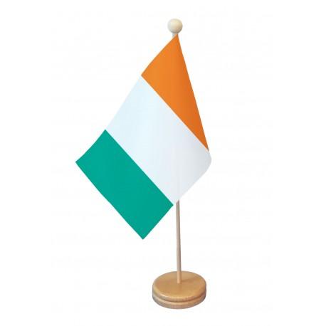 Drapeau de table Irlande socle bois