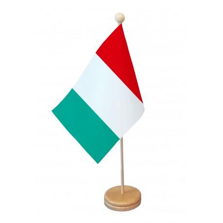 Drapeau de table Italie socle bois