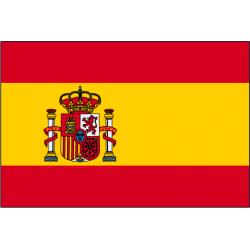 Drapeau de prestige Espagne écusson